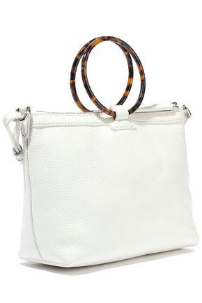 KARA Ring pebbled-leather shoulder bag