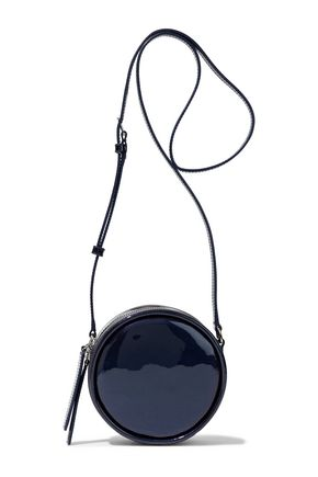 KARA Metallic patent-leather shoulder bag