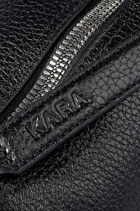 KARA Pebbled-leather shoulder bag