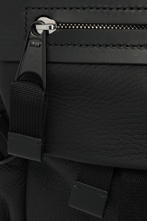 ALEXANDER WANG Woven-trimmed leather weekend bag