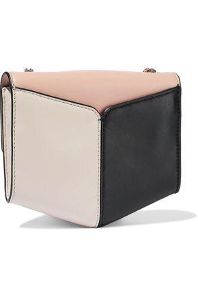 SANDRO Lou color-block leather shoulder bag