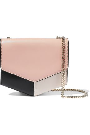 SANDRO Lou color-block leather shoulder bag