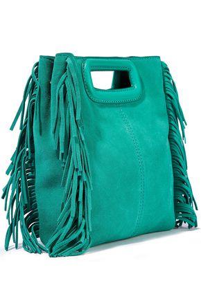 MAJE M fringed suede shoulder bag