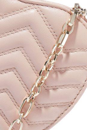 MAJE Star quilted leather belt bag