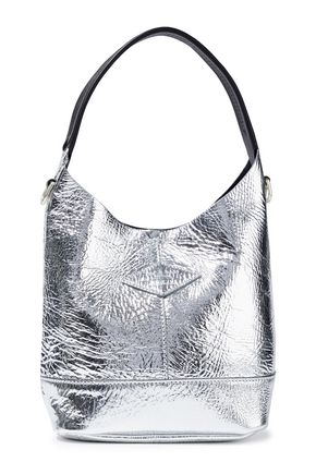 RAG & BONE Camden crinkled mirrored-leather tote