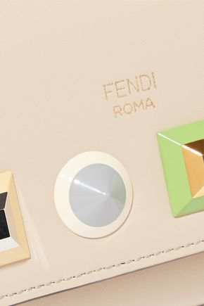 FENDI Studded leather continental wallet