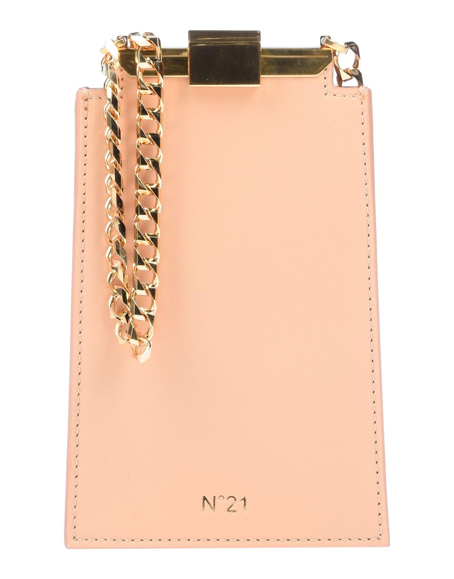 《送料無料》N°21 レディース メッセンジャーバッグ ローズピンク 革