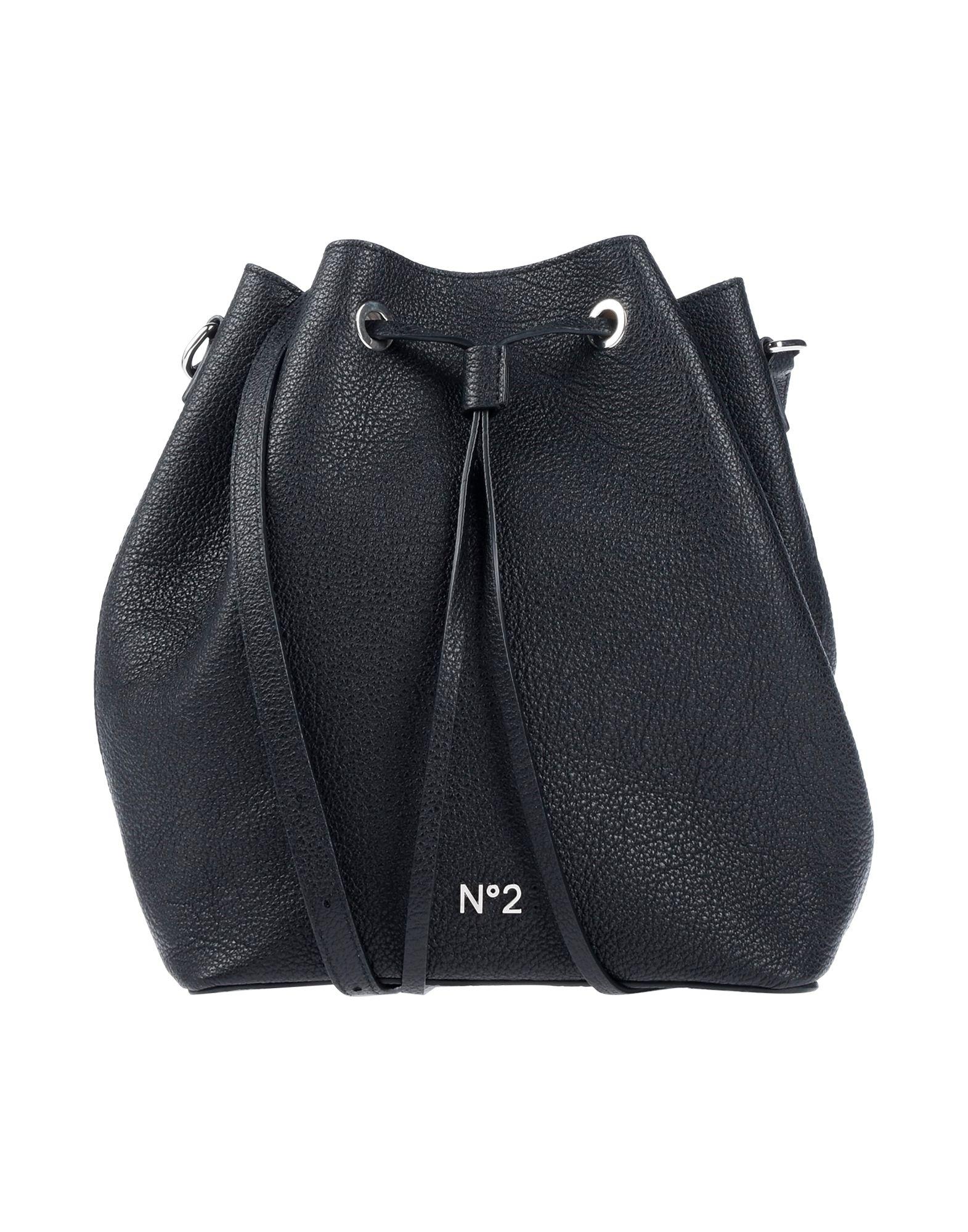 《送料無料》N°21 レディース メッセンジャーバッグ ブラック 革