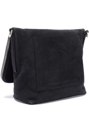 RICK OWENS Brushed-leather shoulder bag