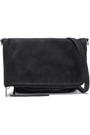 RICK OWENS Brushed-leather shoulder bag