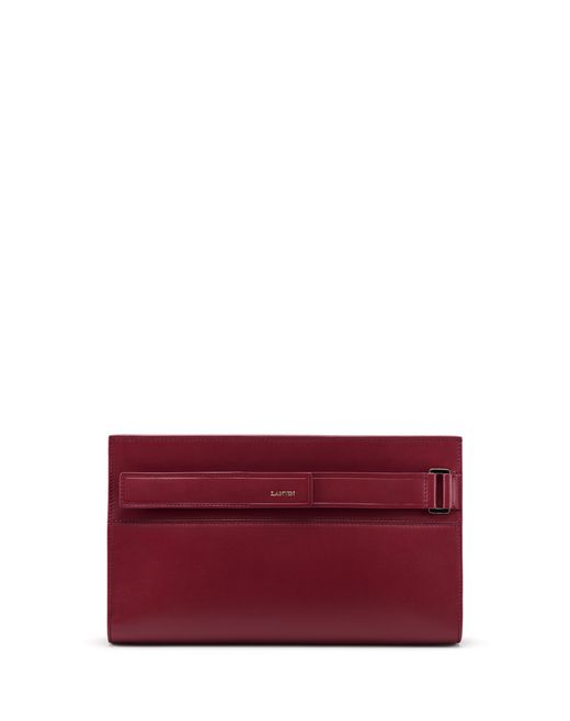 PURPLE RÉGLISSE CLUTCH - Lanvin