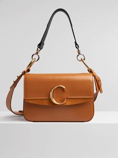 9cf375215a32 Small Chloé C double carry bag ...