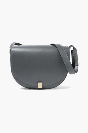 VICTORIA BECKHAM Half Moon Box color-block leather shoulder bag e0b9e1df344a8