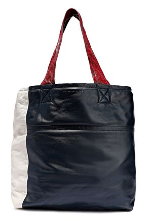 VICTORIA BECKHAM Color-block leather tote