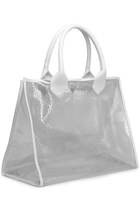 MAISON MARGIELA Leather-trimmed PVC tote