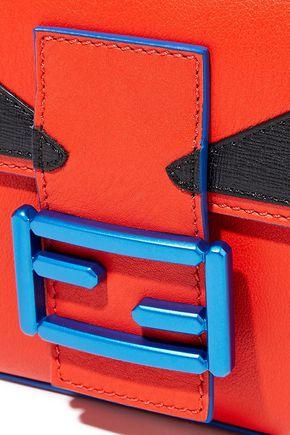 FENDI Baguette appliquéd leather shoulder bag