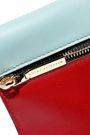 VICTORIA BECKHAM Color-block leather clutch