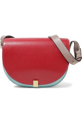 VICTORIA BECKHAM Half Moon Box color-block leather shoulder bag