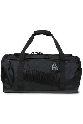 REEBOK Mesh-trimmed shell gym bag