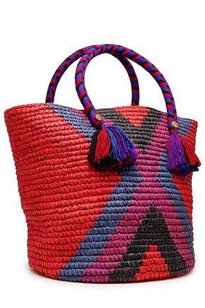 5ff0469058e YOSUZI Fara tasseled woven straw tote