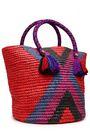 YOSUZI Fara tasseled woven straw tote