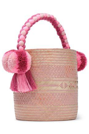 c7ebd51beed3a YOSUZI Kesenia embellished woven straw bucket bag