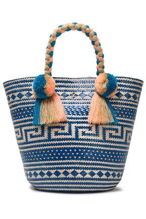 YOSUZI Anisa embellished woven straw tote