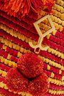 YOSUZI Asema embellished woven straw tote