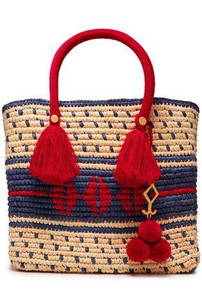 YOSUZI Roja 装飾付き 編み込みストロー トートバッグ