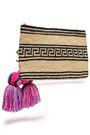 YOSUZI Dita tasseled straw clutch