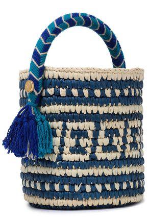 YOSUZI Tara tasseled toquilla straw bucket bag