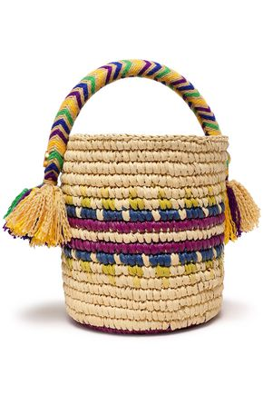 YOSUZI Rym straw bucket bag