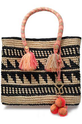 YOSUZI Kalinda embellished toquilla straw tote