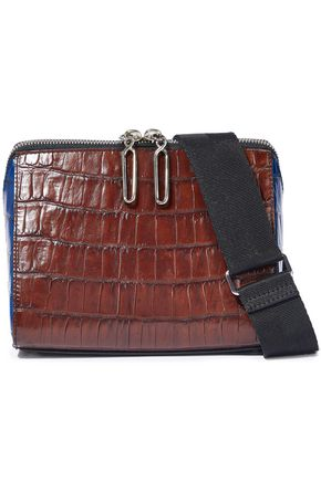 3.1 PHILLIP LIM Ray two-tone croc-effect leather shoulder bag