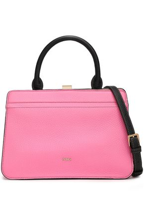 FURLA Textured-leather tote