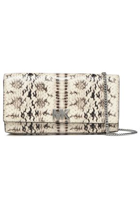 5a18a52dc3ab Snake-effect leather clutch | MICHAEL MICHAEL KORS | Sale up to 70 ...