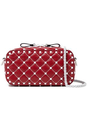 VALENTINO GARAVANI Free Rockstud Spike quilted leather shoulder bag