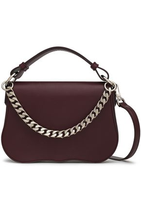 5b877312fe87 CALVIN KLEIN 205W39NYC Chain-trimmed leather shoulder bag