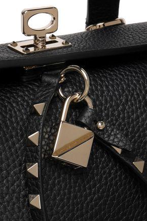 VALENTINO GARAVANI Studded textured-leather tote