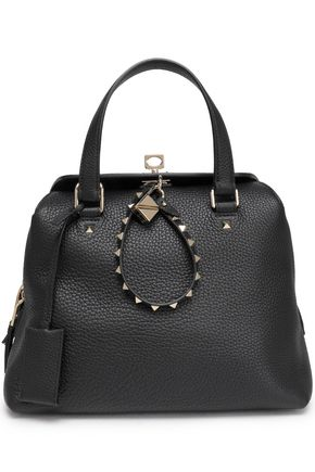 VALENTINO GARAVANI Studded textured-leather tote