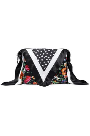 3.1 PHILLIP LIM Leather-trimmed patchwork silk bag cover