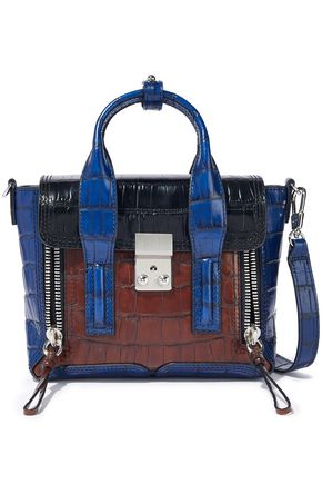 3.1 PHILLIP LIM Pashli mini color-block croc-effect leather shoulder bag