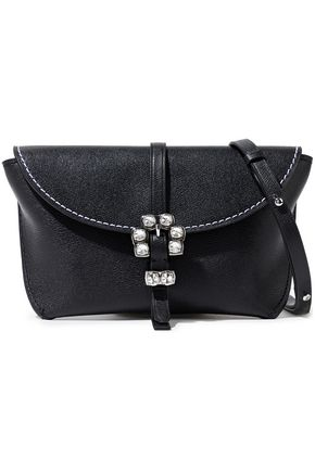 3.1 PHILLIP LIM Hudson crystal-embellished textured-leather shoulder bag