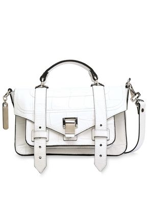 PROENZA SCHOULER Croc-effect leather shoulder bag