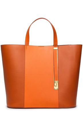 SOPHIE HULME Color-block leather tote