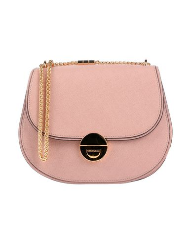 Фото - Сумку через плечо пастельно-розового цвета