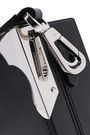 CALVIN KLEIN 205W39NYC Leather and silver-tone box clutch