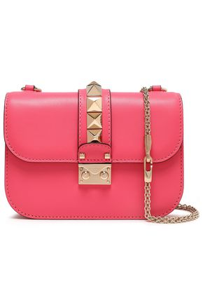 VALENTINO GARAVANI Rockstud Lock leather shoulder bag