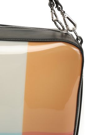 MARNI Leather-trimmed color-block PVC shoulder bag