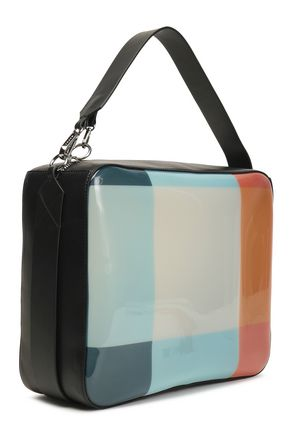 a6400bcd834d6 MARNI Leather-trimmed color-block PVC shoulder bag